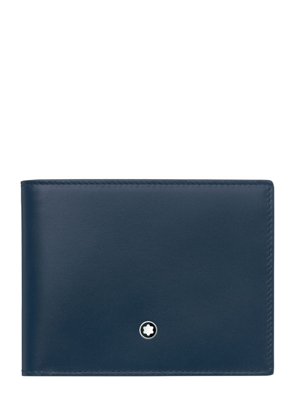 LEATHER MST WALLET 6CC NAVY-TAN