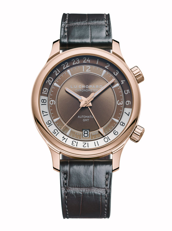 L.U.C GMT ONE 18-carat rose gold