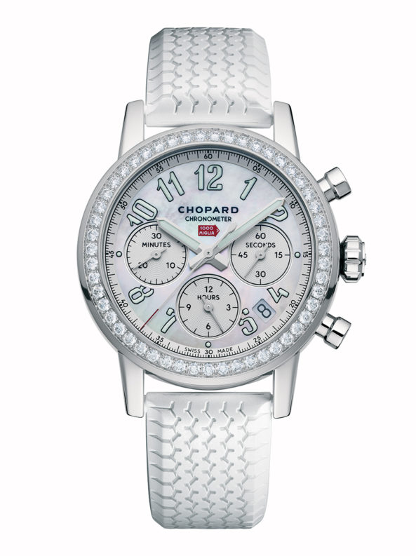 Mille Miglia Classic Chronograph diamond-set, stainless steel