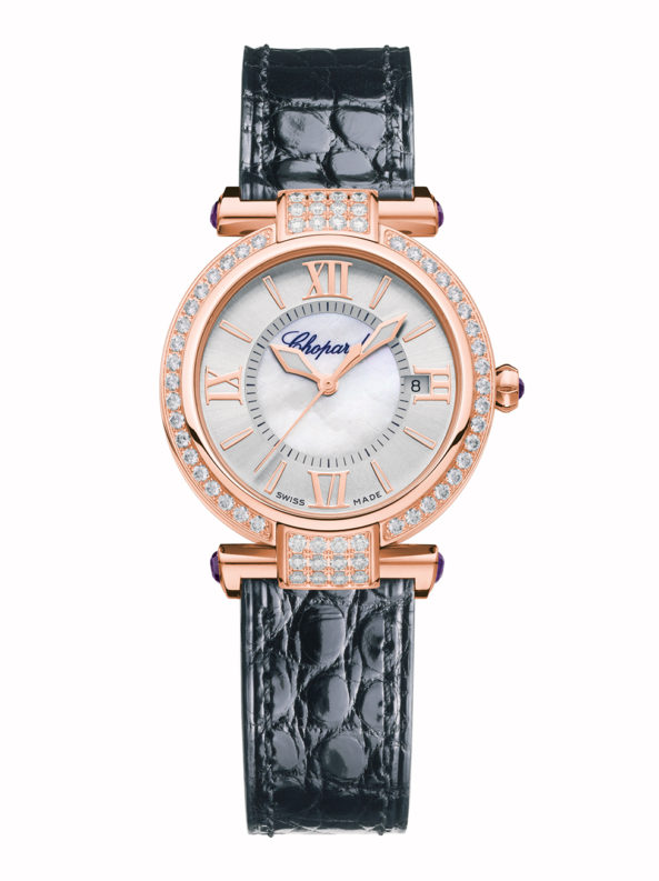 Imperiale 29mm Automatic 18k rose gold, amethysts and diamonds