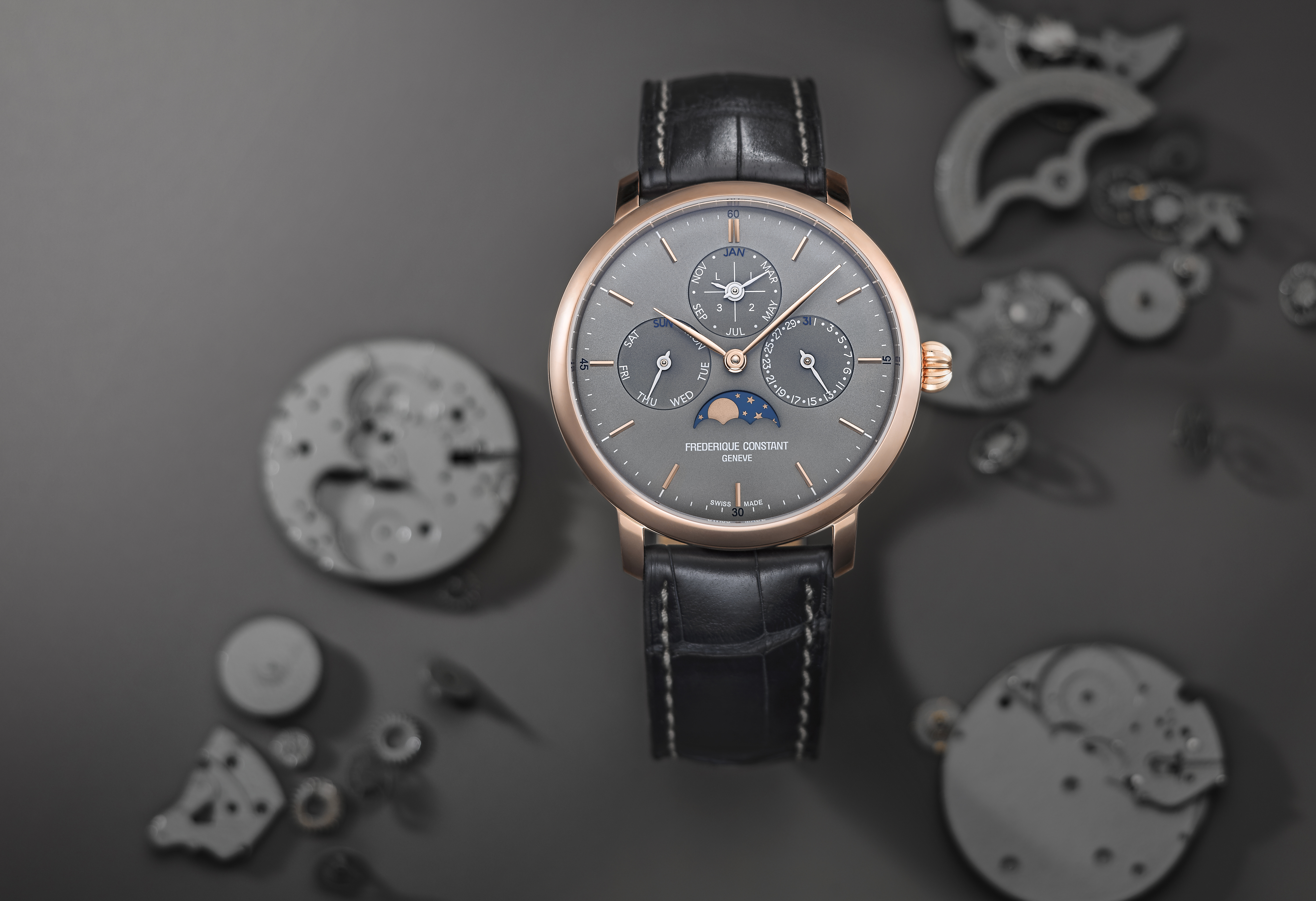 Frederique Constant Slimline Perpetual Calendar Manufacture 2019 Watch Available At Polo Luxury Nigeria