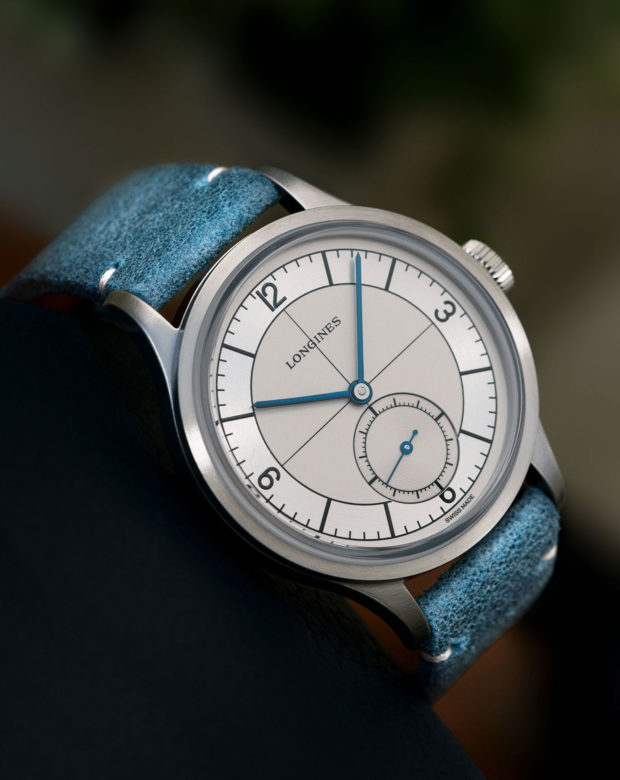 Longines Heritage Classic Sector Dial - Light Blue - Available At Polo Luxury Nigeria