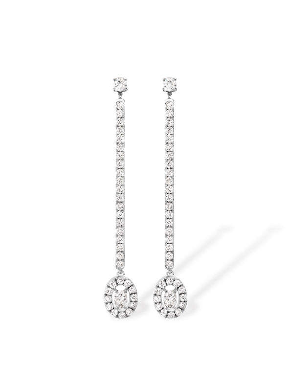 Glam' Azone earrings - oval shape diamond