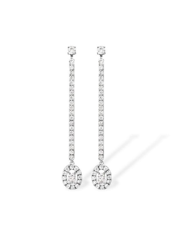 Glam' Azone earrings - oval shape diamond