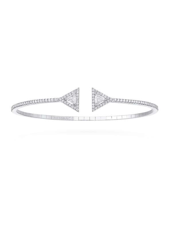 Thea skinny 1 row bracelet - Triangle shape diamonds/ sizing charts: 15-16cm 0r 5,9-6,3 inches
