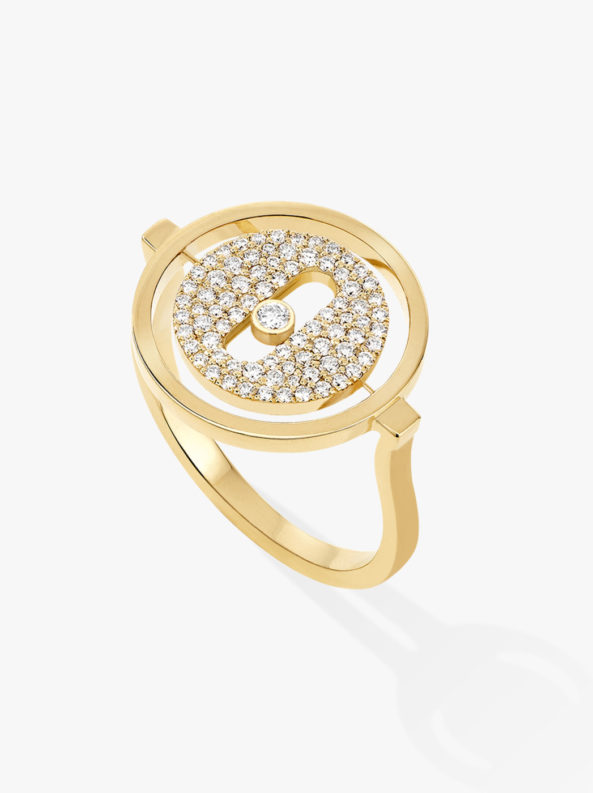 LUCKY MOVE PAVÉE PM Yellow Gold