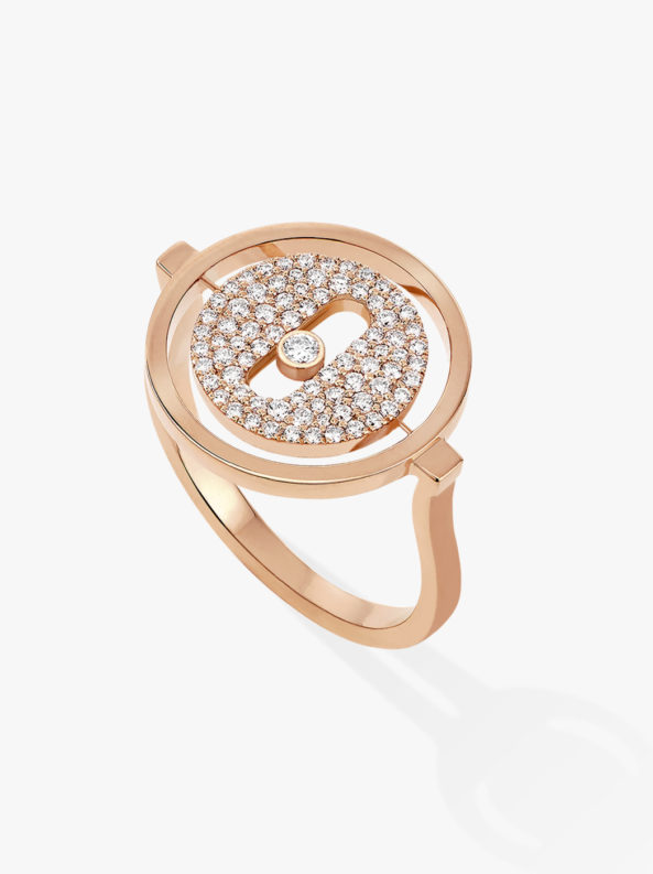 LUCKY MOVE PAVÉE PM Rose Gold